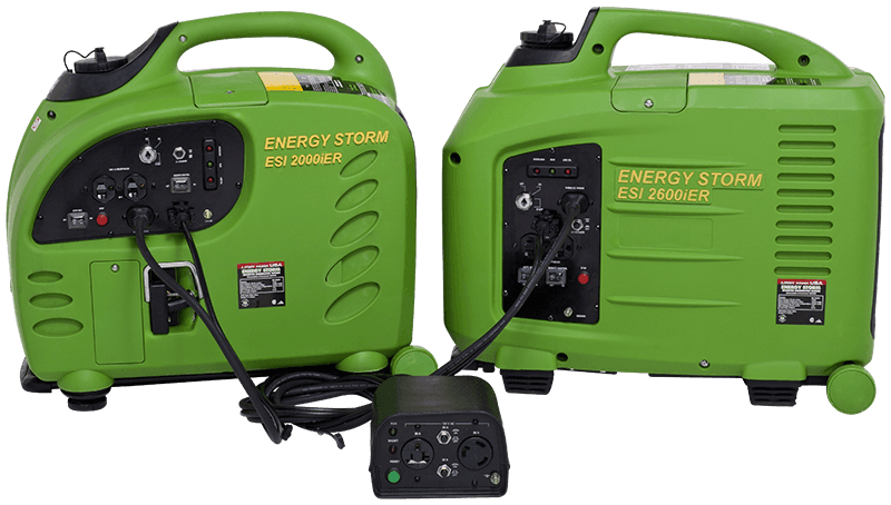 energy storm 3100ier efi inverter generator lifan power usa connection capable parallel connection box