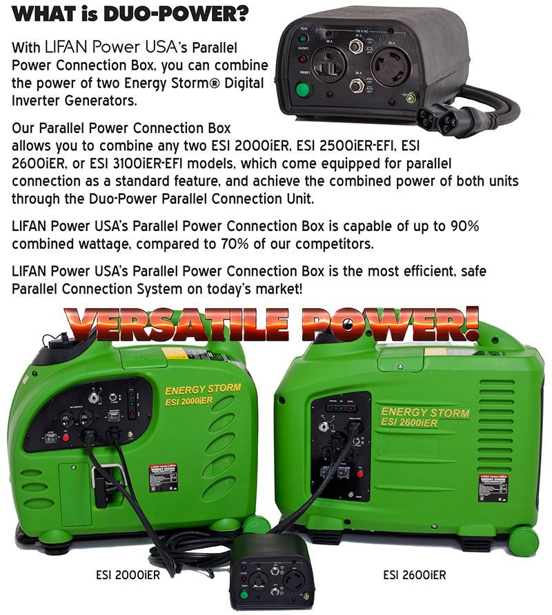 energy storm 2600ier lifan power usa duo power