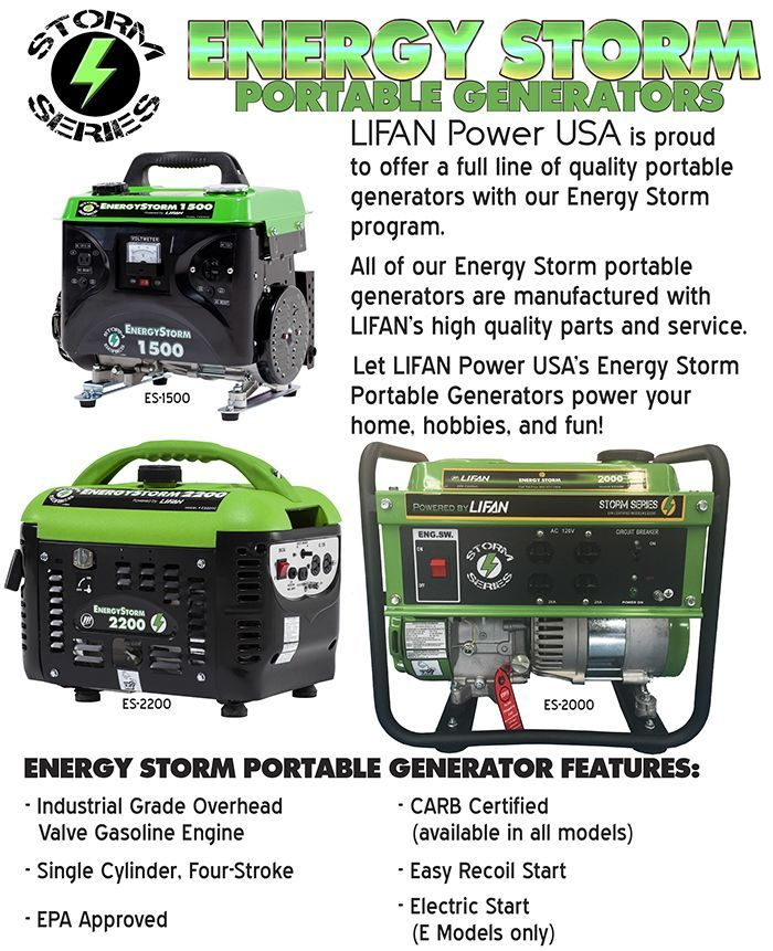 energy storm series lifan power usa most