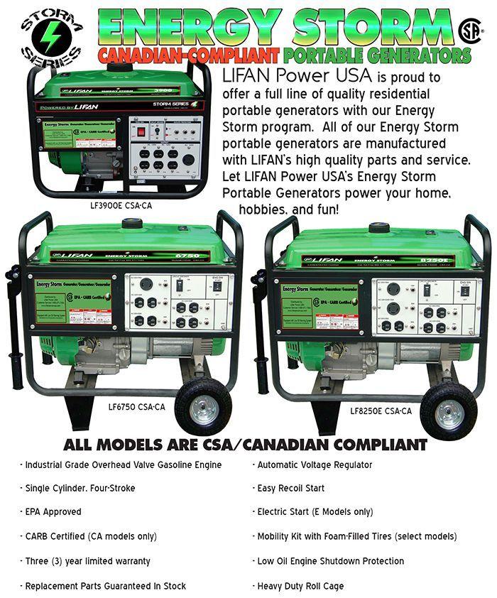 energy storm csa series lifan power usa wiring diagrams