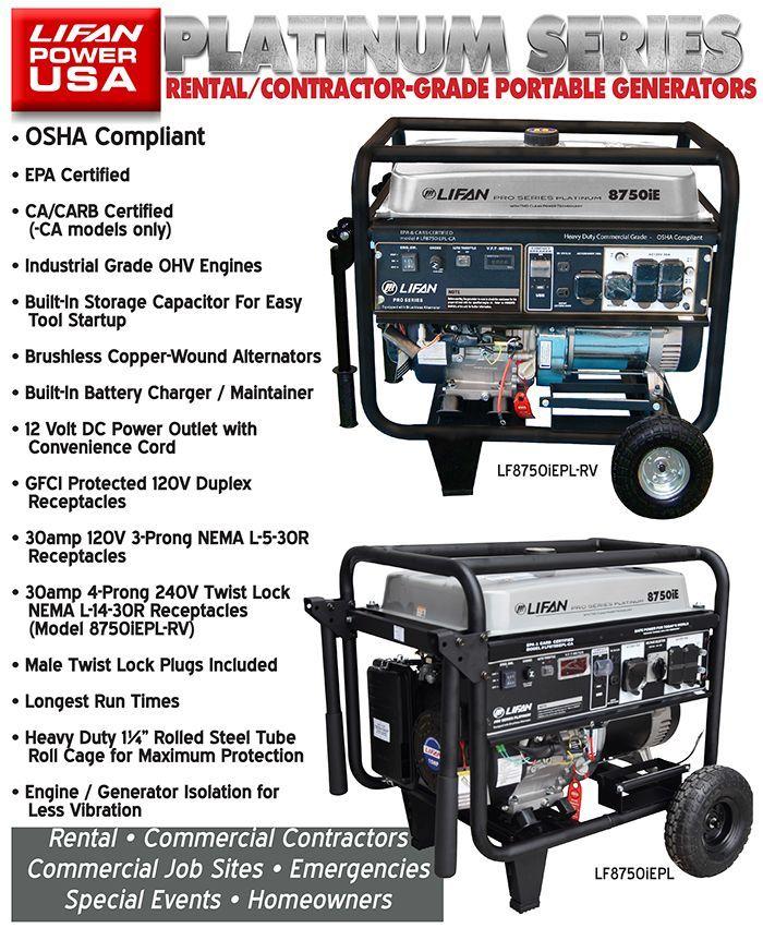 platinum series lifan power usa lifan power usa platinum series portable generators