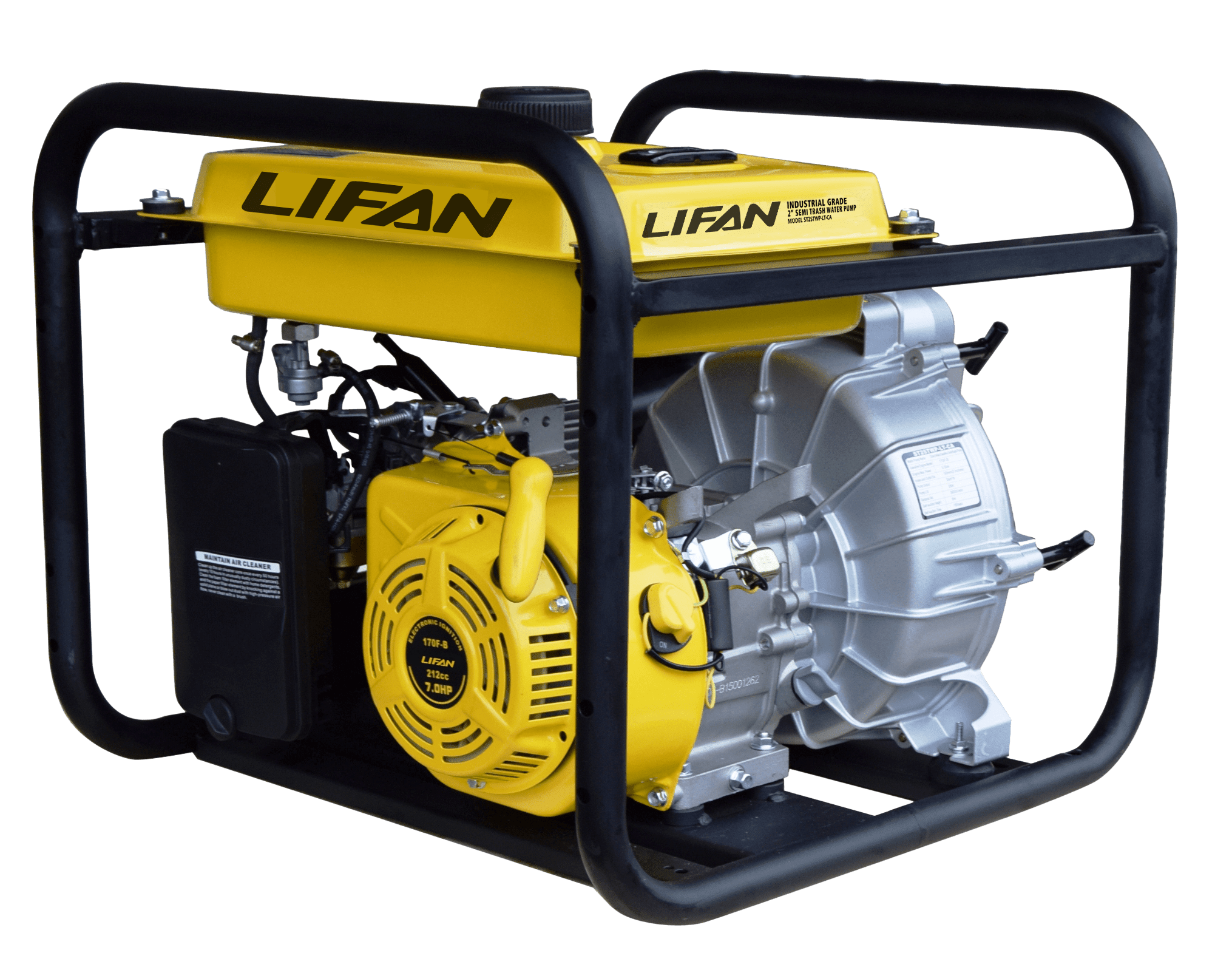 Lifan Pump Pro specialty water pumps use LIFAN's Industrial Grade OHV  Gasoline Engine and quality pump housing to fit any of your pumping needs.
